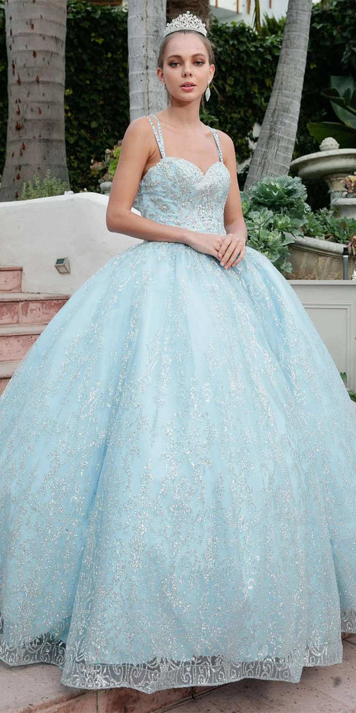Juliet 1427 Bahama Blue Poofy Princess A-Line Ball Gown
