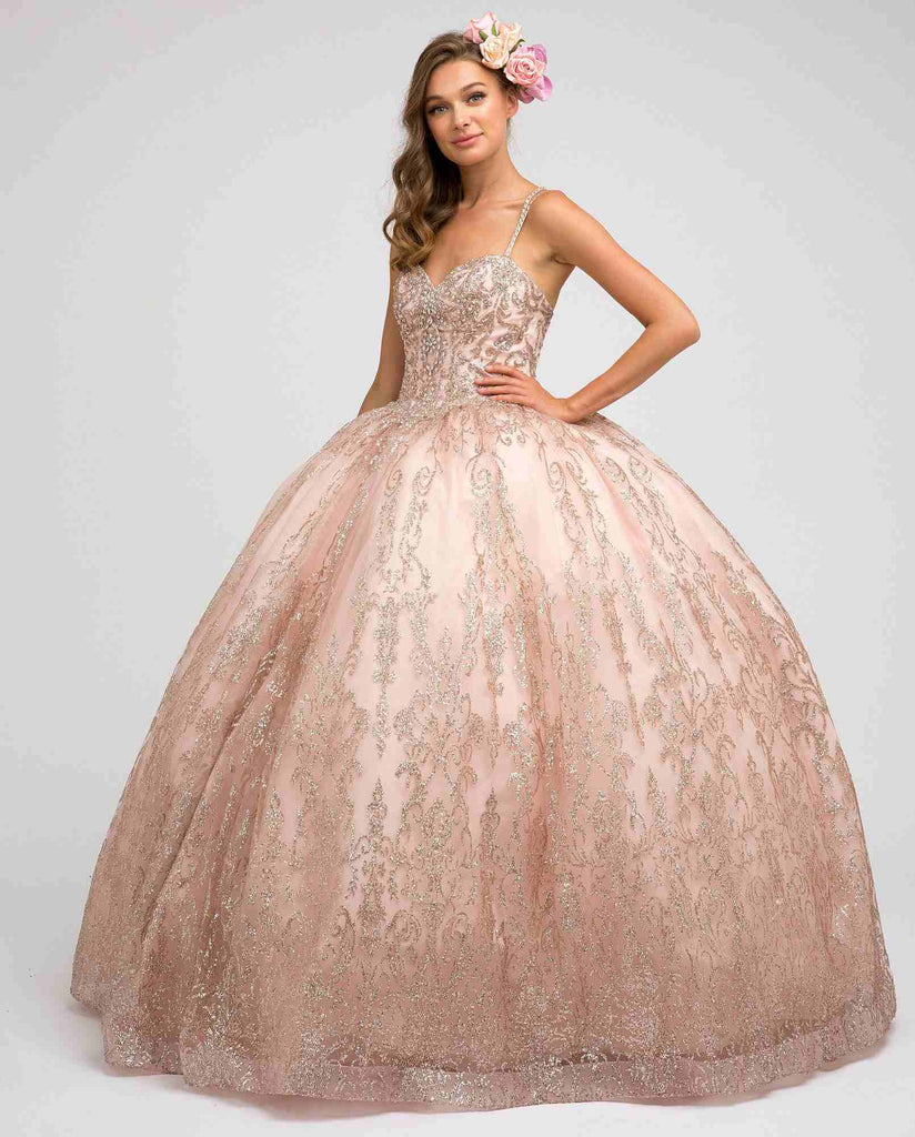 Juliet 1427 Princess Ball Gown Rose Gold Poofy A-Line