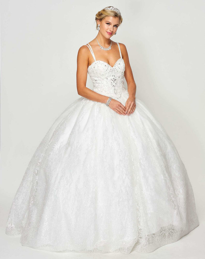 Juliet 1427 Princess Ball Gown White Poofy A-Line