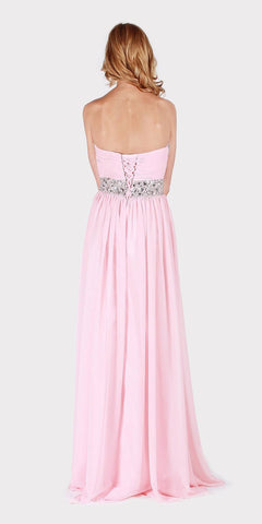 Strapless Embellished Long Formal Dress Dusty Rose