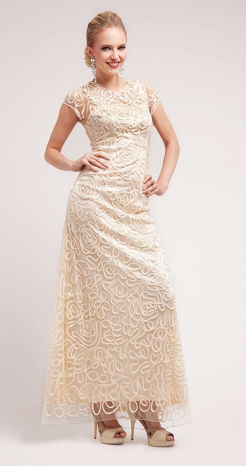 Formal Cream Dresses