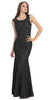 Two Tone Black Gold Overlay Lace Dress Mermaid Wide Strap