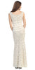 Two Tone Ivory Gold Overlay Lace Dress Mermaid Wide Strap