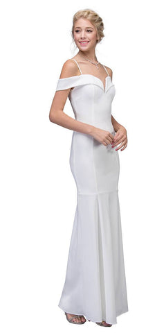 Eureka Fashion 2100 Off White Off Shoulder Mermaid Style Evening Gown with Sweetheart Neckline