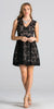 Black Lace Short Cocktail Dress V-Neck Sleeveless