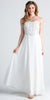 Off White Strapless  A-Line Long Formal Dress Beaded Bodice