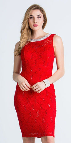 Red Sleeveless Short Bodycon Party Dress
