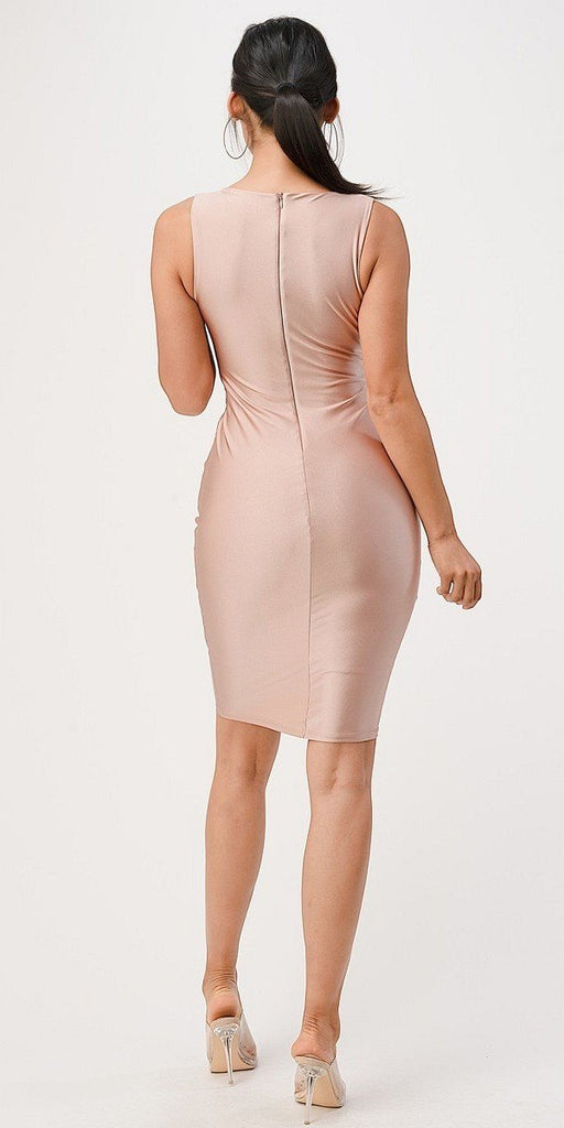 Rosy Cheek V-Neck Short Cocktail Dress Sleeveless