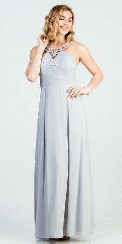 A-Line Flutter Sleeved Short Wedding Guest Dress Baby Blue