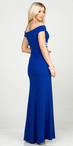 Mermaid Long Formal Dress Off-Shoulder Royal Blue