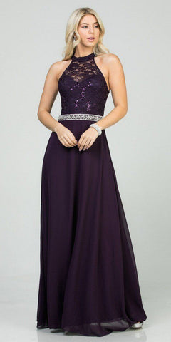 Long A-Line Gown Eucalyptus With Deep Sweetheart Neckline And Leg Slit