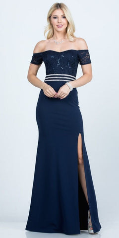 Cap Sleeves Embellished Bodice Illusion V-Neck Short Prom Dress Blue