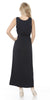 Katherine Maxi Dress Black Lace Neckline Wide Straps Empire