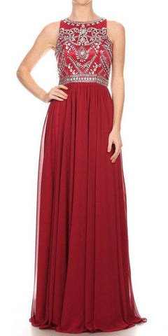 Wide Shoulder Strap Sweetheart Evening Dress Red