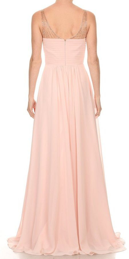 Blush Long Formal Dress with Sweetheart Neckline