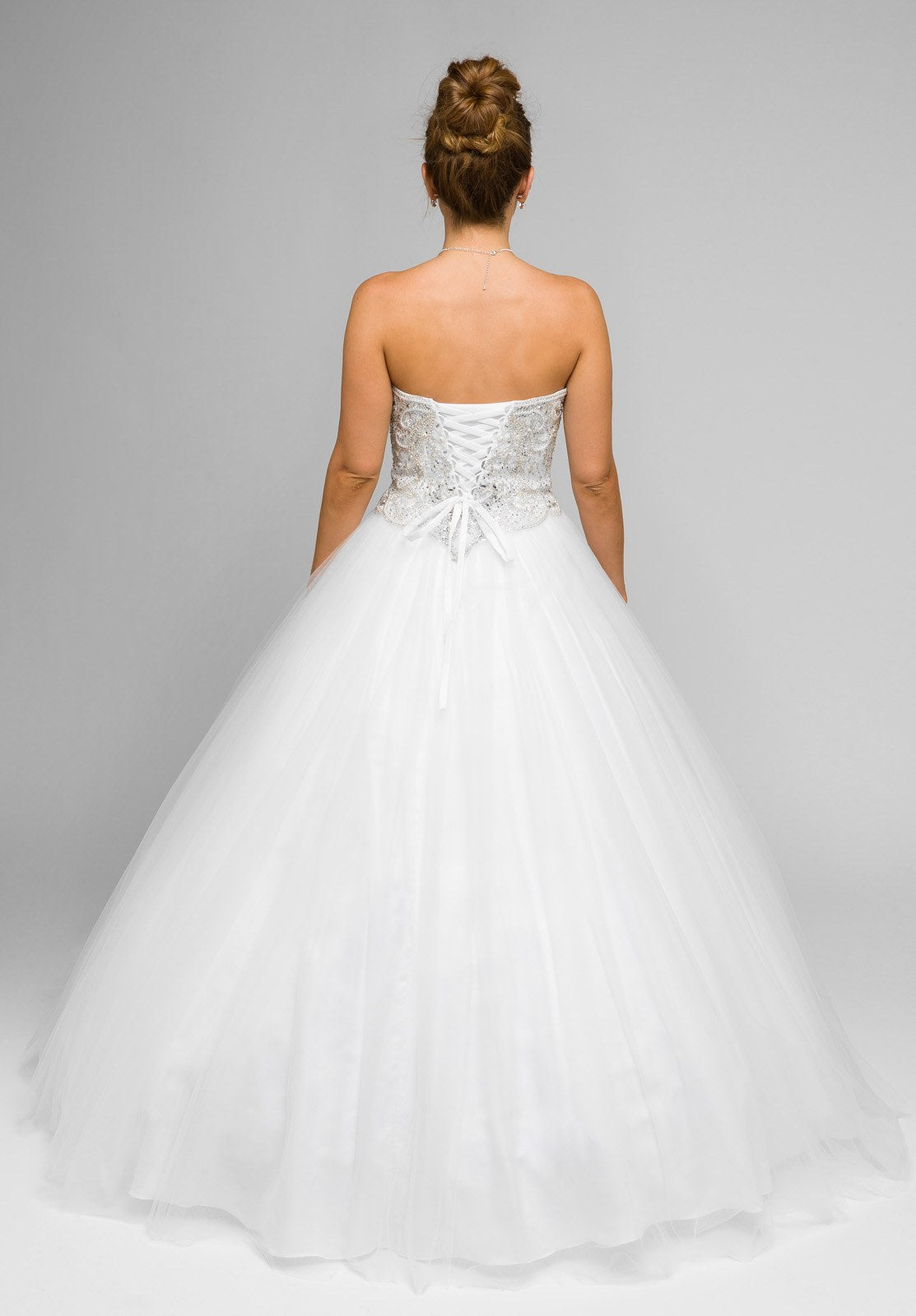 White beaded bodice strapless ball gown wedding dress with for White bolero for wedding dress