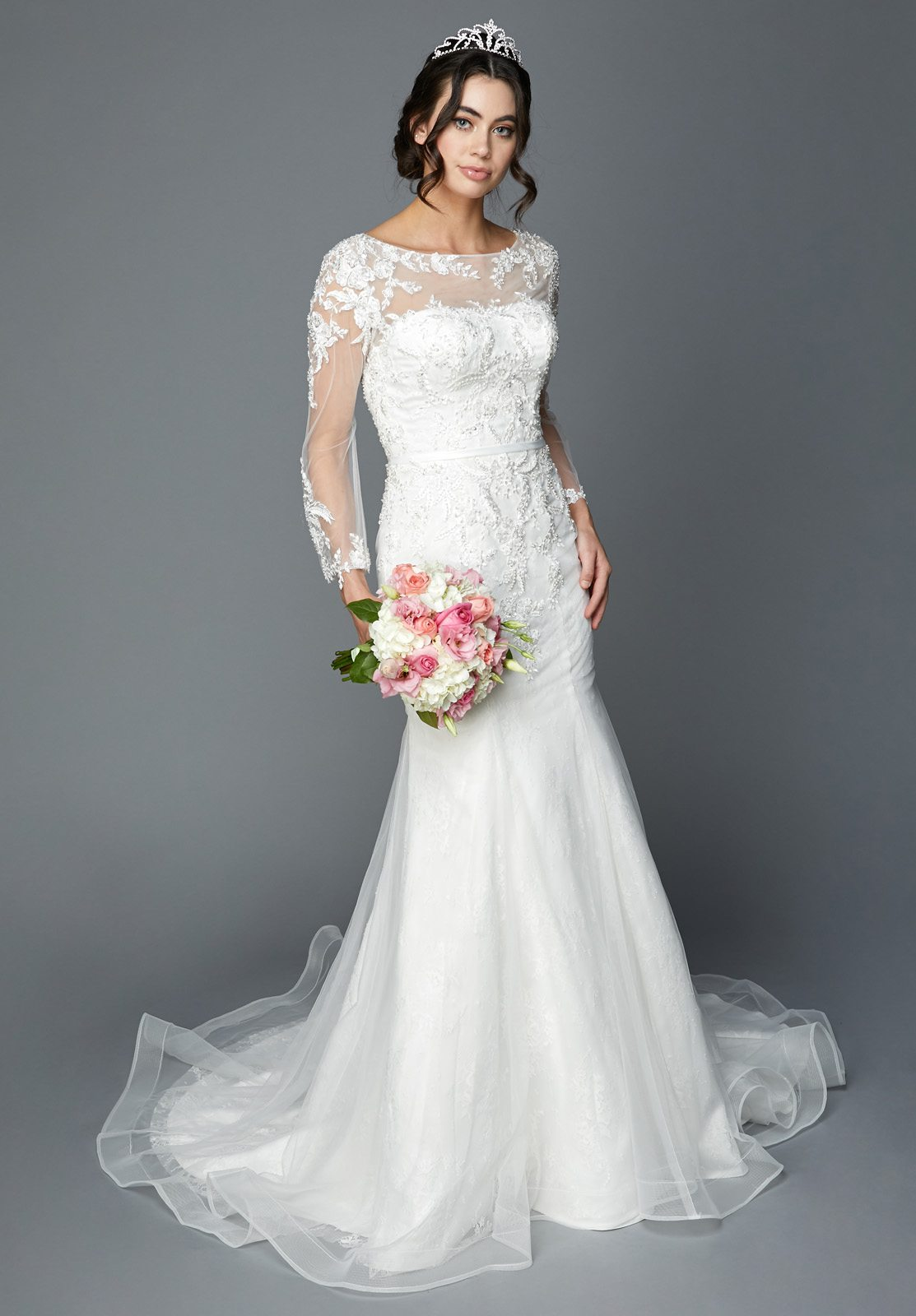 Long Sleeves Mermaid Style Wedding Dress