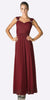 Cinderella Divine 3831 - Full Length Burgundy Beach Wedding Bridesmaid Dress Flowy Chiffon