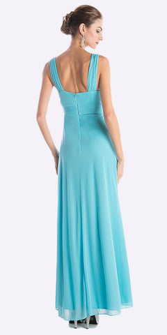 Cinderella Divine 3984 Long Beach Wedding Bridesmaid Dress Mint Flowy Chiffon