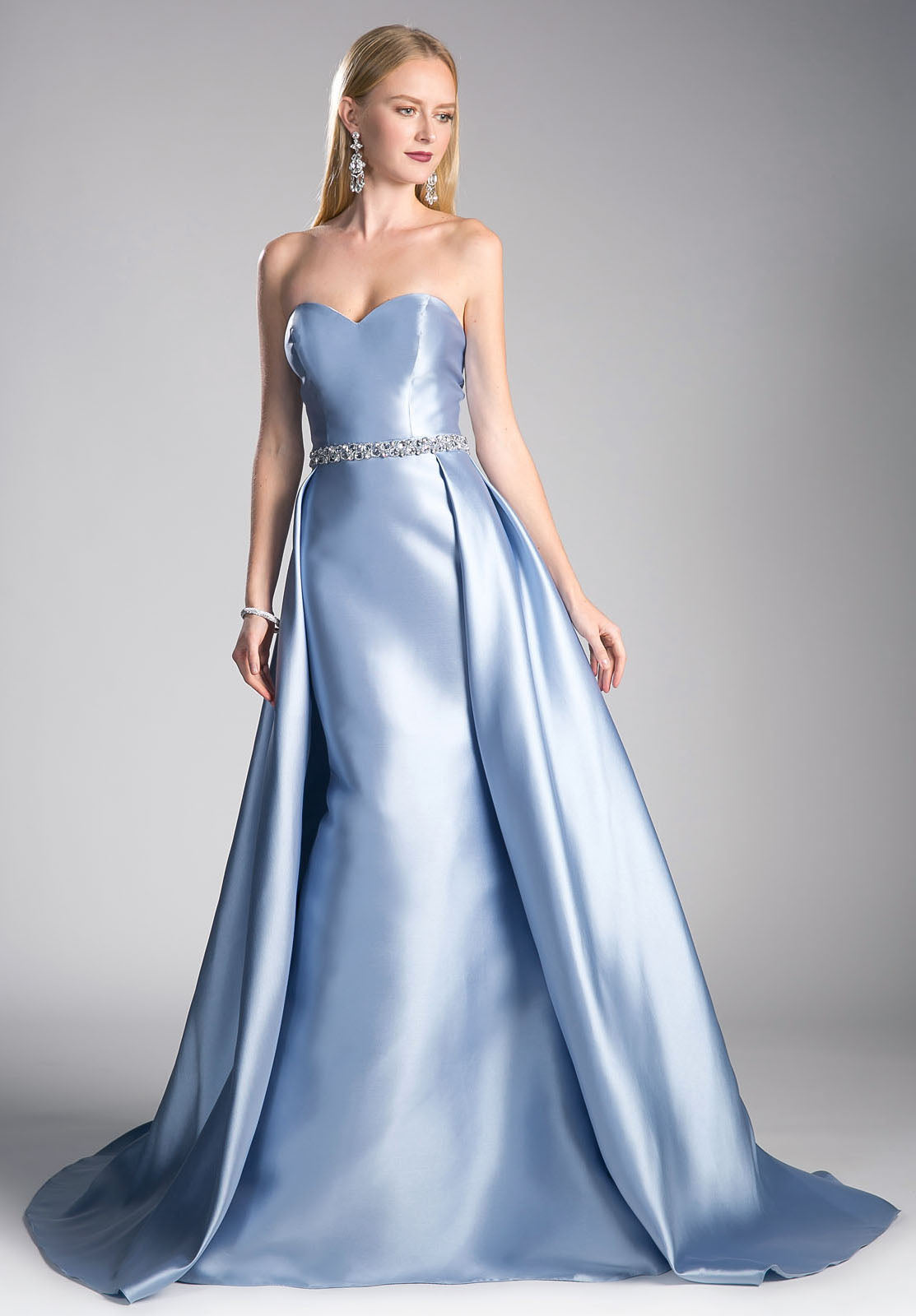 Cinderella Divine 455 Strapless Sweetheart Long Prom Dress Beaded ...