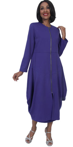 Hosanna 5273 Plus Size 3 Piece Set Purple Ankle Length Dress