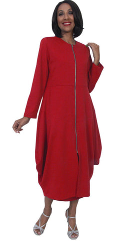 Hosanna 5273 Plus Size 3 Piece Set Red Ankle Length Dress