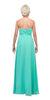 Starbox USA 533 Ruffled Thigh Slit Strapless Long Mint Column Gown Back View