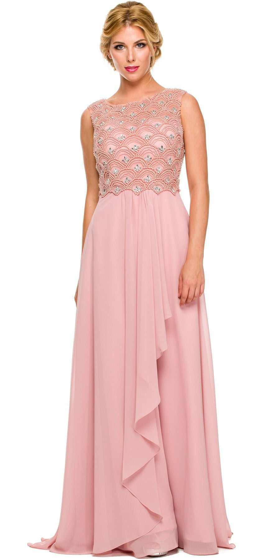 Rose Chiffon Gown