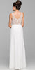 Bolero Jacket Off White Formal Gown Chiffon V Neck Tank Straps
