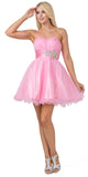 Starbox USA 595 Short Ruched Sweetheart Bodice Pink A Line Prom Dress