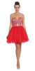 Tulle Poofy Skirt A Line Silver Homecoming Dress Strapless