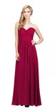Starbox USA L6126 Sweetheart Ruched Chiffon Burgundy Bridesmaid Dress