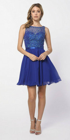 Champagne Two-Piece Homecoming Short Dress Cut-Out Back