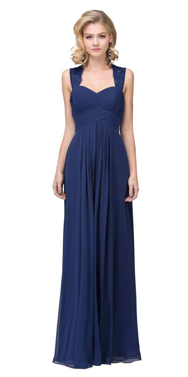 38f8b393b0e97 Starbox USA Navy Blue Long Bridesmaids Dress Cut Out Back Empire Waist. Tap  to expand
