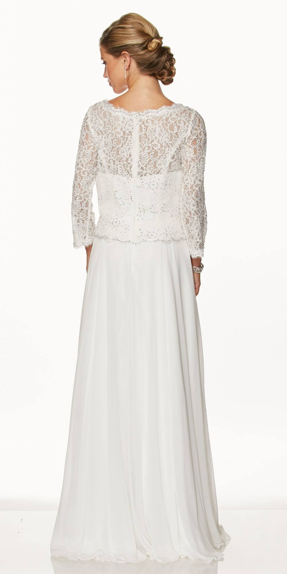 9b5d7391f81d2 ... Juliet 630 Off White Lace Top Chiffon Skirt Mother of Bride or Groom  Dress ...