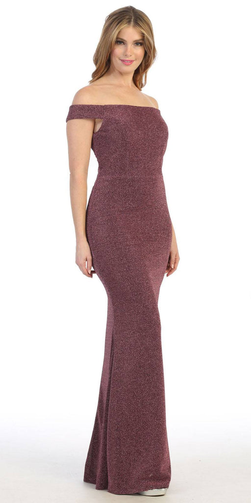 Celavie 6402 Off-Shoulder Mermaid Style Long Formal Dress Mauve