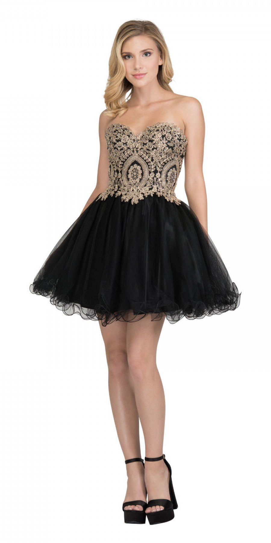 dc52a75f8e41 Black And Gold Homecoming Dresses - raveitsafe
