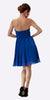 Strapless Chiffon Short Royal Blue Bridesmaid Dress Knee Length Back View