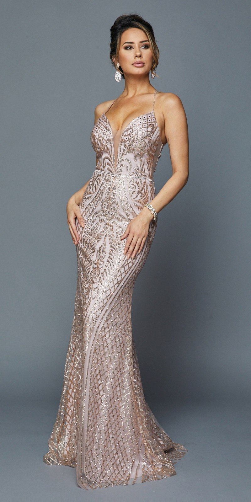 6e96c7b6 Juliet 681 Mauve Long Sequin Prom Dress with Strappy Back ...