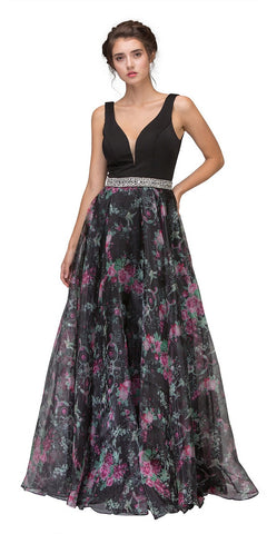 Off The Shoulder Fitted Mermaid Gown Black/Lilac Mixed Lace