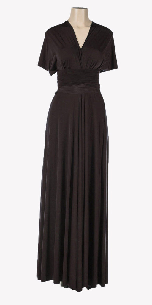 Poly USA 7022 - Long Black Convertible Jersey Dress 20 Different Looks