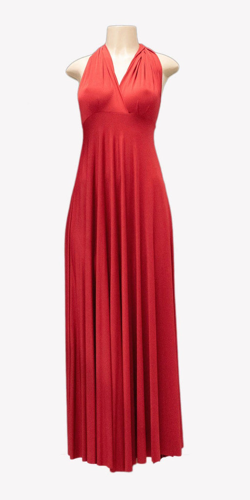 Poly USA 7022 - Long Red Convertible Jersey Dress 20 Different Looks