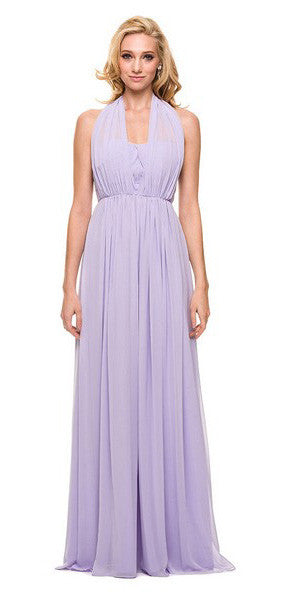 Floor Length Convertible Bridesmaids Dress Chiffon Lilac