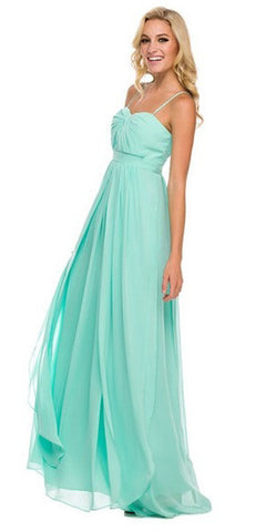 Floor Length Convertible Bridesmaids Dress Chiffon Mint