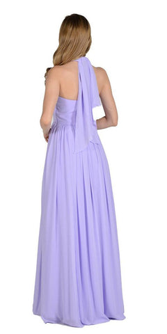 Poly USA 7156 - Long Convertible Chiffon Dress Lilac 10 Different Looks Back View