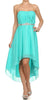 Asymmetrical Strapless Ruched Bodice Jade Homecoming Dress