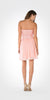 Strapless Embellished Bodice A-line Chiffon Short Party Dress Pink