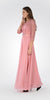 Sleeveless A-line Formal Dress with Mid Sleeves Lace Bolero Dusty Rose