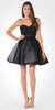 Sweetheart Neckline Lace Top Satin Pleated Skirt Babydoll Dress Black