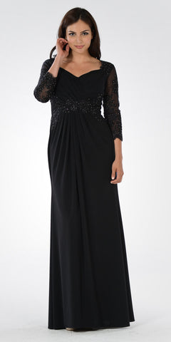 Long black dress for concert